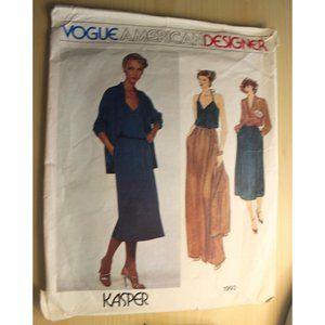 CUT VOGUE 1993 sewing pattern Kasper suit sz 12